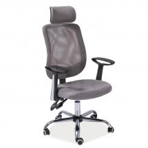 Židle kancelářská šedá Q-118