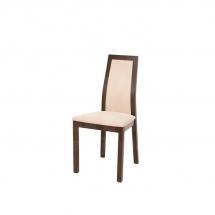 Židle jídelní dřevěná čalouněná béžová KOEN PKRS