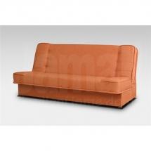 Pohovka rozkládací s úložným prostorem oranžová NEXT
