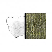 Taburet s úložným prostorem zelený ESTEVAN 1439