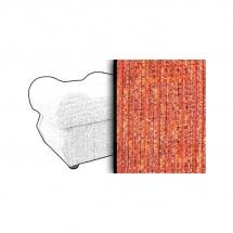 Taburet s úložným prostorem oranžový ESTEVAN 2846
