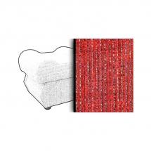 Taburet s úložným prostorem červený ESTEVAN 4547
