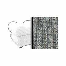 Taburet s úložným prostorem šedý ESTEVAN 7859