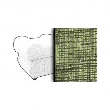 Taburet s úložným prostorem zelený MONZA 1139