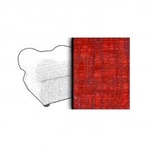 Taburet s úložným prostorem červený MONZA 4547