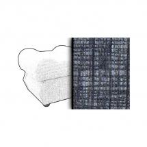 Taburet s úložným prostorem šedý MONZA 8859