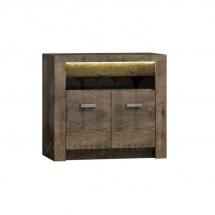 Televizní stolek vysoký/Komoda dvoudvéřová  jasan tmavý INDIANAPOLIS I10