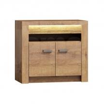 Televizní stolek vysoký/Komoda dvoudvéřová jasan světlý INDIANAPOLIS I10