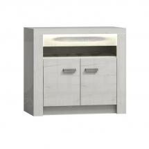 Televizní stolek vysoký/Komoda dvoudvéřová kraft bílý INDIANAPOLIS I10