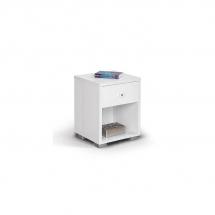Noční stolek bílý HAPPY NORM 490209