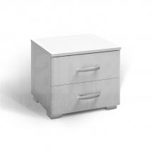 Noční stolek bílý MATIS 2F 360209