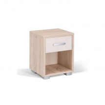 Noční stolek dub/šampaň HAPPY NORM 490212
