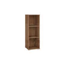 Regál dřevěný policový ořech přírodní OPTIMAL 12