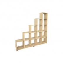 Regál dřevěný sonoma PORTO 01