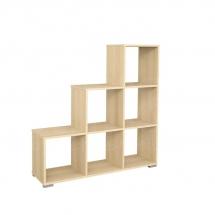 Regál dřevěný sonoma PORTO 02