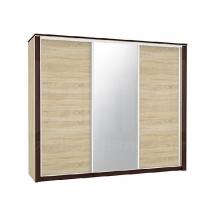 Skříň s posuvnými dveřmi sonoma světlá/tmavá 250 OLIWIER 01/L