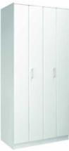 Skříň šatní dvoudvéřová bílá FORTUNA F2 304109