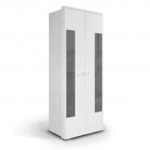 Skříň šatní dvoudvéřová bílá/šedá HAPPY O2V 491922
