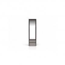 Skříň šatní jednodvéřová se zrcadlem wenge/šedá KASPIAN