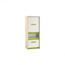 Skříňka dětská bříza/bílá/zelená BEST 16