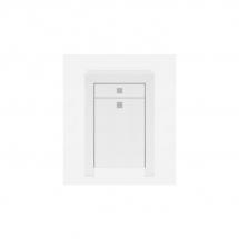 Skříňka bílá/bílý lesk MEZO KOM1D1S_9_6 P