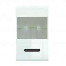 Prosklená vitrína závěsná bílá/bílý lesk/wenge magická AZTECA SFW1W/10/6