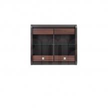 Prosklená vitrína závěsná wenge/akát mali bronz LOREN SFW2W