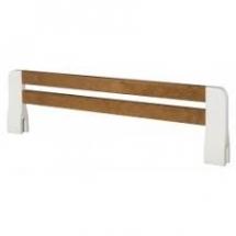 Zabezpečovací bariéra na postel PRINCESSA14 bílá/ koňak
