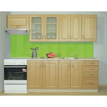 Kuchyňská linka GOLD LUX, DUB ZLATÝ 180 + 60 cm (skříňka nad digestoř) - levá