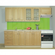 Kuchyňská linka GOLD LUX, DUB ZLATÝ 180 + 60 cm (skříňka nad digestoř) - pravá