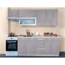 Kuchyňská linka QUANTUM, BÉŽOVÁ 180 + 60 cm (skříňka nad digestoř) - levá. Cena je bez pracovní desky, (+1.150,-) dřezu (+ 1.100,-) a baterie (+500,-).