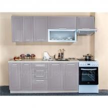 Kuchyňská linka QUANTUM, BÉŽOVÁ 180 + 60 cm (skříňka nad digestoř) - pravá. Cena je bez pracovní desky, (+1.150,-) dřezu (+ 1.100,-) a baterie (+500,-).
