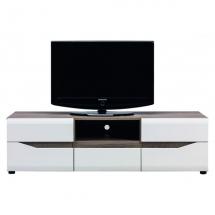 Televizní stolek LIONEL LI/1 dub sonoma truflový/bílý lesk