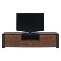 Televizní stolek NAOMI NA/1 - ořech/ořech/lišta wenge