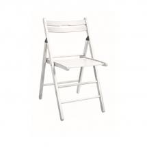 Židle skládací dřevěná bílá SMART