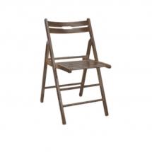Židle skládací dřevěná ořech SMART