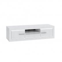 Televizní stolek bílý/bílý lesk L-LIGHT LLGT134B