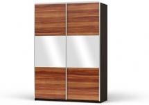 Colin F24/153, 4x ořech meráno + 2x zrcadlo, možnost dokoupení polic a zásuvek, více barevných kombinací