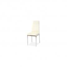 Židle jídelní kovová čalouněná krémová H-261