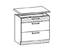 MD28/D80S3, TAFLA - spodní skříňka zásuvková bez pracovní desky kuchyň Modena