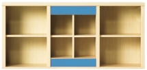 Skříňka závěsná CODI PLUS CD/13 višeň cornvall/modrá