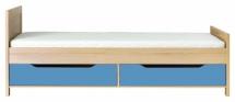 Postel CODI PLUS CD/15 + šuplíky CD/16 višeň cornvall/modrá