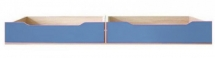 Šuplíky do postele CODI PLUS CD/16 višeň cornvall/modrá