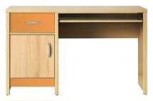 Psací stůl CODI PLUS CD/11 višeň cornvall/oranžová