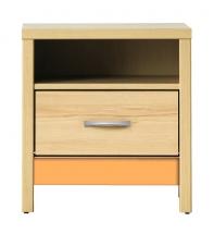 Noční stolek CODI PLUS CD/14 višeň cornvall/oranžová