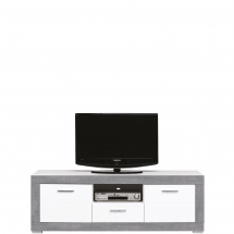 Televizní stolek Twin TW/1 bílá/šedá