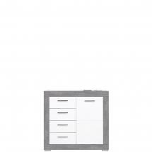 Skříňka/komoda Twin TW/2 bílá/šedá