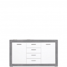 Skříňka/komoda Twin TW/3 bílá/šedá