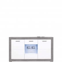 Skříňka/komoda Twin TW/4 bílá/šedá