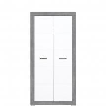 Skříň šatní Twin TW/9 bílá/šedá